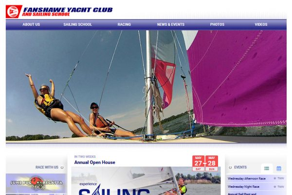London Sailing Club Website Cover
