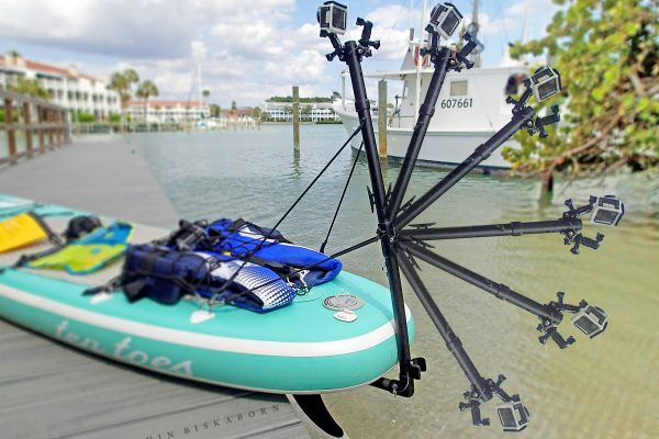 Pivoting Underwater Camera Mount Arm for Stand Up Paddle Boards (SUP)