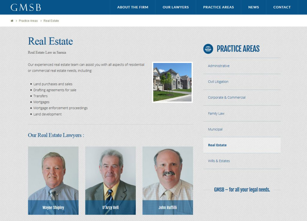 George Murray Shipley Bell, LLP Website Practice Areas